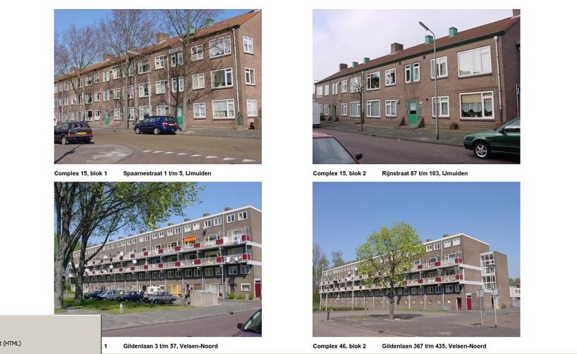 Woningbedrijf Velsen Planmatig onderhoud 101 woningen te IJmuiden en Velsen Noord